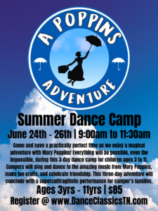 Poppins Dance Camp Poster